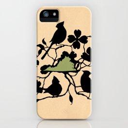 Virginia - State Papercut Print iPhone Case