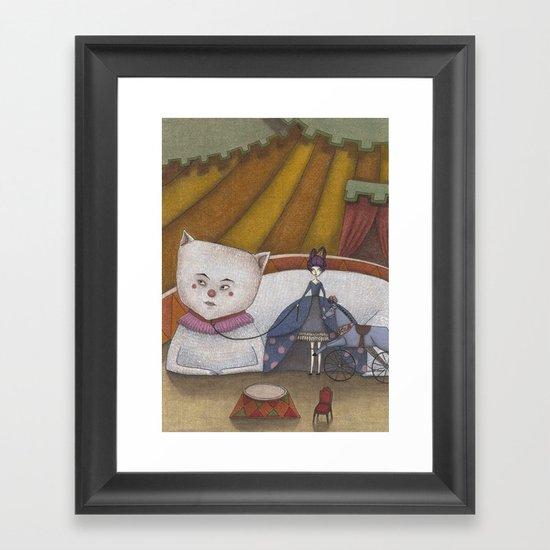 My Cat and I Framed Art Print