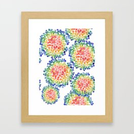 Color My Swirled Framed Art Print