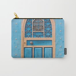 Quaint Blue Cottage Door - European Architecture - Cafe Decor - Spanish Doorway Photography - Travel Photo from Spain Carry-All Pouch