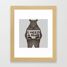 I Need A Hug Framed Art Print