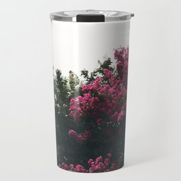 Pink and white flowers Travel Mug