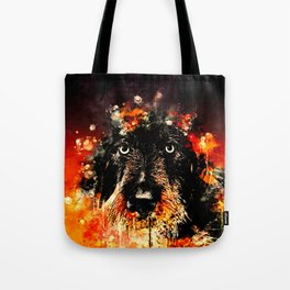 wire haired dachshund dog ws Tote Bag