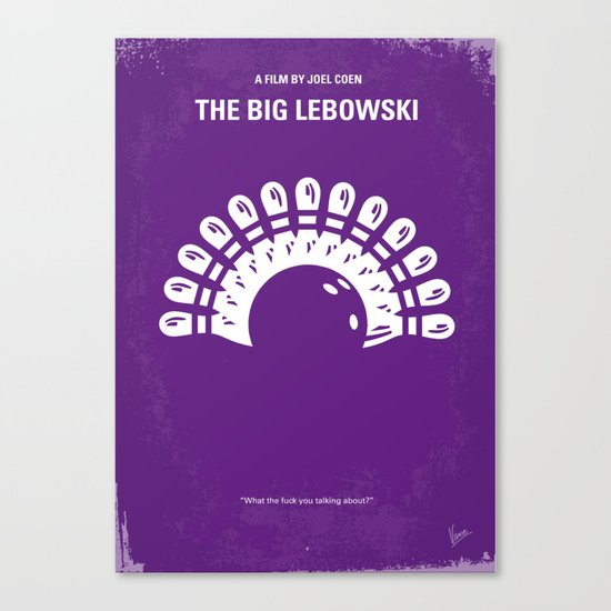 No010 My Big Lebowski minimal movie poster Canvas Print
