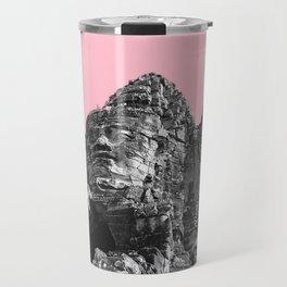 Part of Angkor Wat with pink Travel Mug