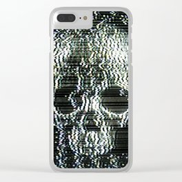 Analogue Glitch Jawless Skull Clear iPhone Case