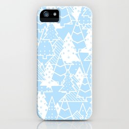Elegant Christmas Trees Holiday Pattern iPhone Case