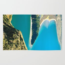 Lake in Azores islands Rug
