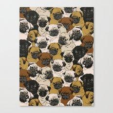 Social Pugz Canvas Print