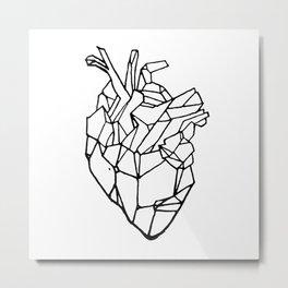 Polyhedron Heart Metal Print