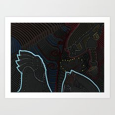 Consent between two worlds Art Print
