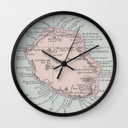Vintage Reunion Island Map (1901) Wall Clock