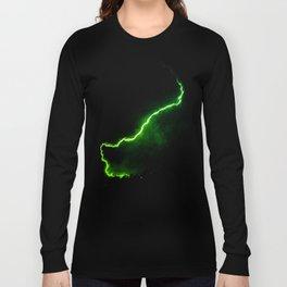 Chartreuse Lightning Long Sleeve T-shirt