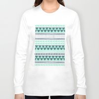 shipping Long Sleeve T-shirts featuring Winter Stripe by Alice Rebecca Potter