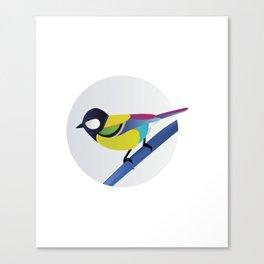 BIRD ON A BRANCH 2 Canvas Print