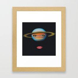 Saturn Face Framed Art Print