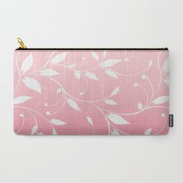FLOWERY VINES | pink white Carry-All Pouch