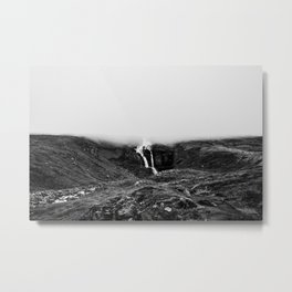 Misty waterfall Metal Print