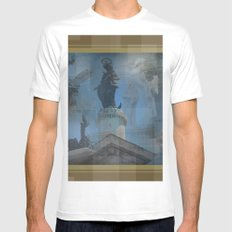 Rome Statues 2 White MEDIUM Mens Fitted Tee