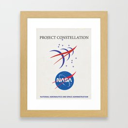 Project Constellation NASA vintage mission manual cover. Framed Art Print
