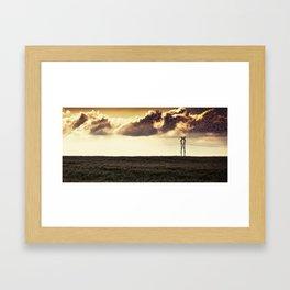 Clouds on the horizon Framed Art Print