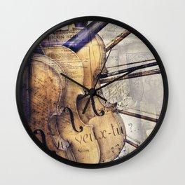Classic Violins Wall Clock