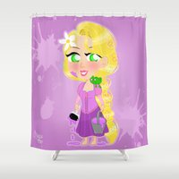 rapunzel Shower Curtains featuring Rapunzel by Marnetti