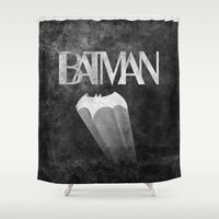 knight Shower Curtains featuring gothams knight by Darthdaloon