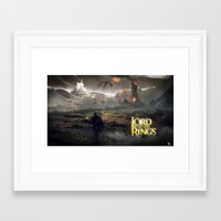lord of the ring Framed Art Prints featuring Shadow of mordor/ Lord of the ring original by Alphonse Chèvre