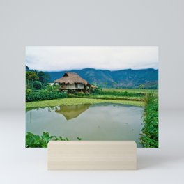 Mountain Village in Vietnam Mini Art Print