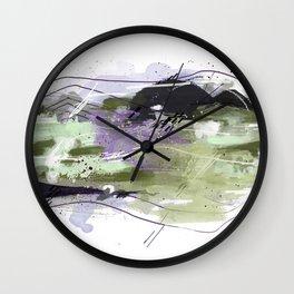 Abstract Five Wall Clock