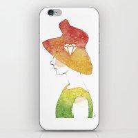 audrey hepburn iPhone & iPod Skins featuring Audrey Hepburn by TamSanSerif