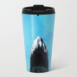 Shark Attack art Travel Mug