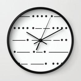 Stamp series - Morze Wall Clock