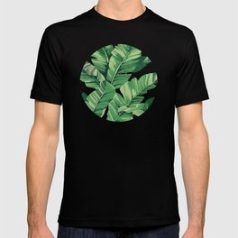 Tropical banana leaves VI T-shirt