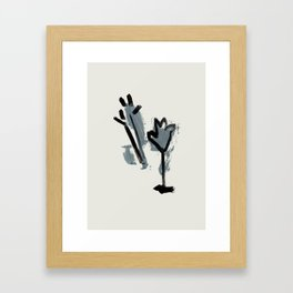 a tulip and a thistle Framed Art Print