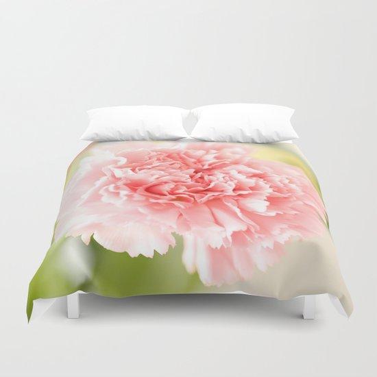 Pink Carnation Admiration  Duvet Cover