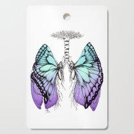 Butterfly Lungs Blue Purple Cutting Board