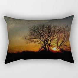 perfect suburban sunrise.   first series: dark before dawn 1-3 Rectangular Pillow