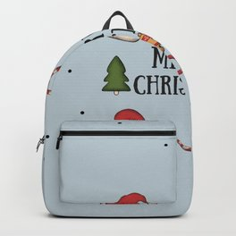 New Year, Cristmas, winter holidays Backpack