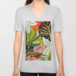 Jungle Abstract 2 Unisex V-Neck
