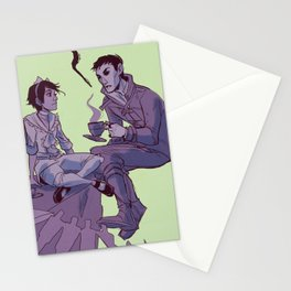 tea party in the void Stationery Cards