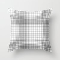grid Throw Pillows featuring Grid by Georgiana Paraschiv