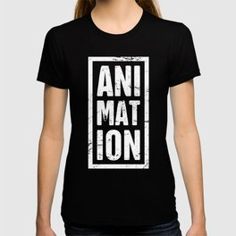Distressed ANIMATION Text | Design For Animators T-shirt