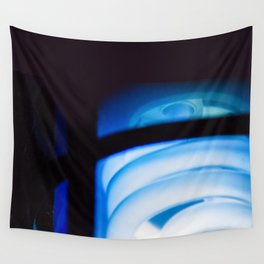 Blue Light District Wall Tapestry