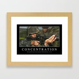 Concentration: Inspirational Quote and Motivational Poster Framed Art Print