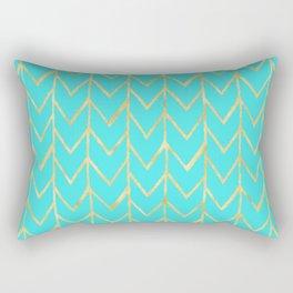 Festive Chevron Pattern Rectangular Pillow