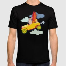 Fly High MEDIUM Black Mens Fitted Tee