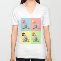 pin up V-neck T-shirts featuring Pin Up! by Tatyana  Urzhuntseva