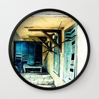 rustic Wall Clocks featuring Rustic by Kim Ramage